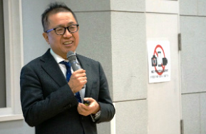 三田国際学園の説明会の様子