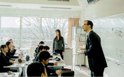 三田国際学園の英語教育風景