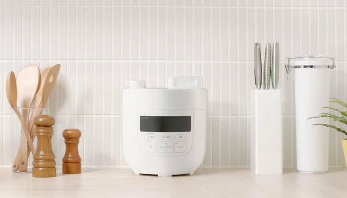 シロカの電気圧力鍋デザイン