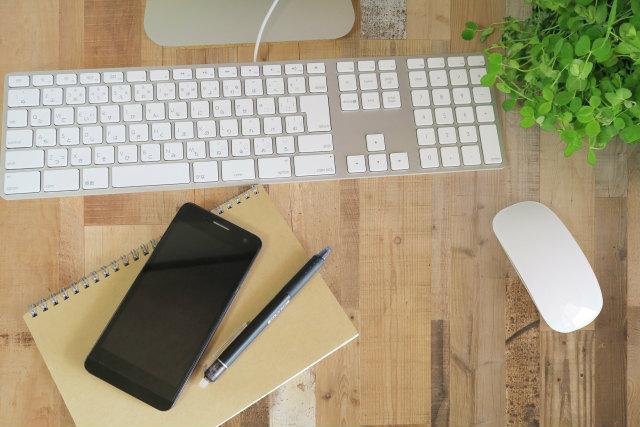 スマホとキーボード