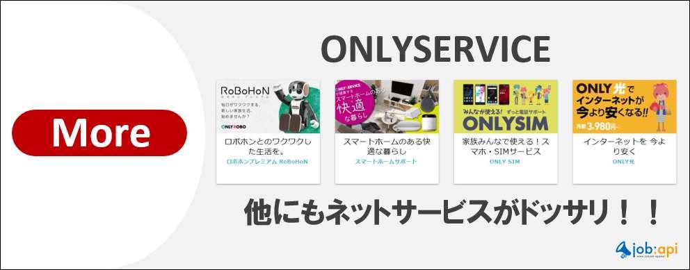 オンリーサービスなら他にも豊富なネットサービスがある!